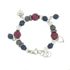 ESMERALDA buntes Silber Bettelarmband **SALE** 85,-Euro statt 135,-Euro  #princesslioness #silberschmuck #silberarmband #bettelarmband #rotesteine #blauesteine