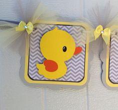 Rubber duck gender neutral baby shower by NancysBannerBoutique,