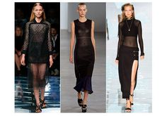 Worn layered, or on its own if you're feeling brave, black mesh is set to be big for #Spring: http://voguefr.fr/SStrends2015