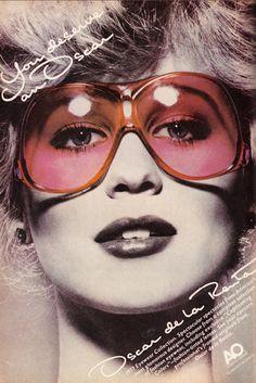 Oscar de la Renta Sunglasses, 1977.