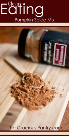 Clean Eating Pumpkin Spice Mix #cleaneatingrecipes #pumpkinspice