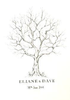 Lizzie Barton: Hand-drawn fingerprint tree More