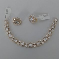 bridal sets & bridesmaid jewelry sets – a complete bridal look Diamond Necklace Set, Diamond Pendant, Diamond Jewelry, Diamond Studs, Gold Jewellery, Jewellery Holder, Jewellery Sale, Bold Necklace, Punk Jewelry