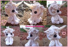 Beautiful Polymer Clay Unicorn by CuteNCuriousCritters on Etsy