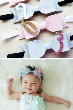 Milestone headband from ZoZu Baby. Adorable way to track your baby girl's monthly growth.
