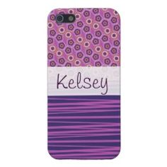 Personalized Purple Circles Stripes iPhone 5 Case #iphone5