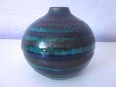 Ceramano Turmalin Vase Keramikvase 60er 70er seltenes Design lava WGP