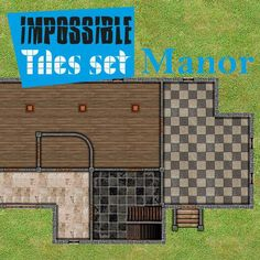 Impossible Tiles Set: Manor | Tile-able easy set of indoor buildings. Different floors, for every situation. Remember rotate, reflect, assemble all pieces with your imagination.  https://marketplace.roll20.net/browse/set/748/impossible-tiles-set-manor