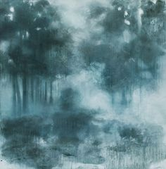 untitled woods ~ acrylic, ink and chalk ~ by abby kasonik