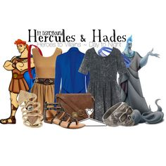 """Hercues & Hades"" by leslieakay on Polyvore"