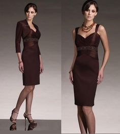 mother of the bride dress, brown dress,