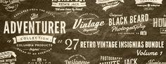 27 Retro Vintage Insignias Bundle Volume 1 | GraphicRiver