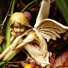 Garden fairies reside in my lovely friends yard!