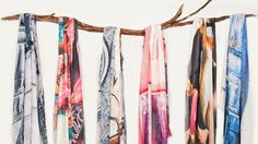 Gorgeous scarves by NZ designers Bird and Knoll #beautiful #fashion http://mystyleanthology.blogspot.co.nz/2014/08/bird-and-knoll-tea-sugar-and-dream.html