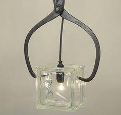ice block light fixture - Google Search