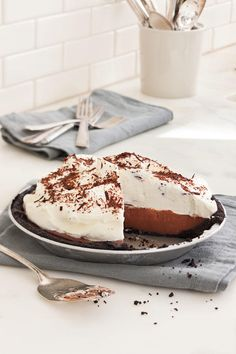 Rebecca's Black Bottom Icebox Pie