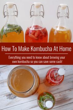 Are you obsessed with kombucha but don't love spending so much money on all those lovely bottles? Learn how to make kombucha at home! It's incredibly easy to brew and it cost just pennies! Plus there are so many flavor options, you will never get bored.