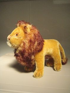 In my ETSY Shop: Steiff Vintage Standing Leo Lion ~ King of the Jungle ~ 1964 to 1975 ~ 7 Inches Tall