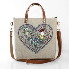 Ľudová kabelka s kohútikom v srdci Bags, Fashion, Handbags, Moda, Fashion Styles, Fashion Illustrations, Bag, Totes, Hand Bags