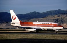 The Original Frontier Airlines Boeing 737-200 N7382F in 1982