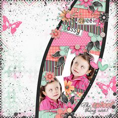 the cutest thing ever layout by Julie/Mother Bear using Sassy but Sweet Kit