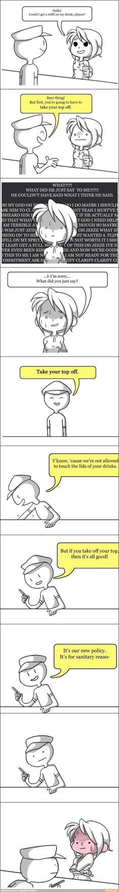 Awkward misunderstanding