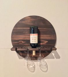 I love this gorgeous, handmade minimalistic shelf. Use the code to receive off your purchase at Christiani Modern Wood Designs! Small Wood Projects, Woodworking Projects That Sell, Diy Woodworking, Scrap Wood Projects, Wine Glass Rack, Wood Wine Racks, Wine Rack Wall, Barrel Furniture, Diy Furniture