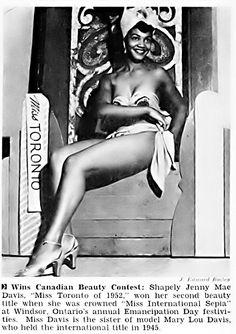 Meet Jenny Davis, Miss Toronto of 1952 - Jet Magazine, Aug… | Flickr