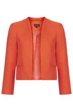 Orange Tall Croc Textured Jacket @ Top Shop $110