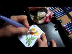 Tutorial - Blending with Water Soluble Pencils  - Dina Kowal - YouTube