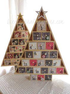 Advent Calendars - 2014 by QueenvannaCreations Wooden Advent Calendar, Advent Calendars, Christmas Crafts, Christmas Decorations, Holiday Decor, Calendar 2014, December Holidays, Wooden Diy, Christmas Inspiration