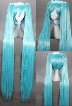 Vocaloid Hatsune Miku Cosplay Wig, , - COSPLAY IS BAEEE! Tap the pin now to grab yourself some BAE Cosplay leggings and shirts! From super hero fitness leggings, super hero fitness shirts, and so much more that wil make you say YASSS! Miku Cosplay, Cosplay Wigs, Best Cosplay, Cosplay Costumes, Costume Wigs, Anime Costumes, Costume Shop, Kawaii Hairstyles, Cute Hairstyles