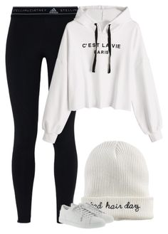 """Untitled #10781"" by fanny483 ❤ liked on Polyvore featuring adidas, Mudd and Yves Saint Laurent"