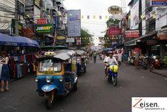 Belebte Strasse in Bangkok Bangkok, Thailand, Street View, Tour Operator, Travel