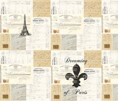 Dreaming of Paris custom fabric on Spoonflower
