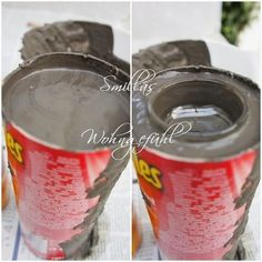 DIY: concrete candle holder / cement candle holder - feeling of getting dirty today, because time for a DIY with cement, right? I LOVE cement . Cement Art, Concrete Crafts, Concrete Art, Concrete Projects, Diy Projects, Concrete Candle Holders, Diy Candle Holders, Diy Candles, Papercrete