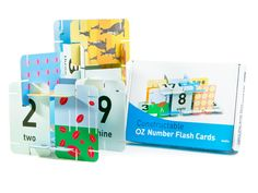 Ozzilla Constructable Number Flashcards