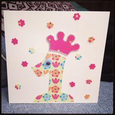 "Selfmade ""first birthday""card #diy #selfmade #cards #birthday"
