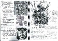 Haiku confessions on paper - ink, pencil and charcoal