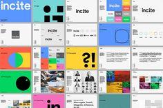 Incite branding created by Proud Craetive - Rain Creative Identity Design, Visual Identity, Brand Identity, Logo Branding, Brochure Design, Brand Guidelines Design, Brand Manual, Brand Style Guide, Brand Book