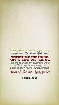 Psalm 119:37-40