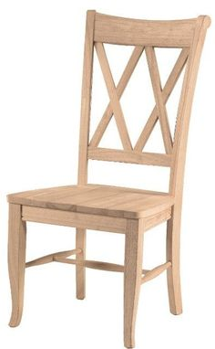 Double X Back Hardwood Dining Chairs   2 Pack