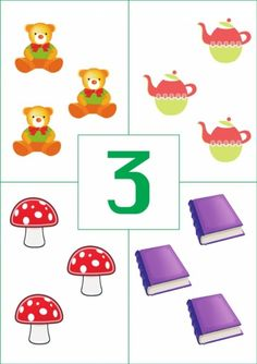 Touch Math, Preschool Printables, Preschool Worksheets, Motor Skills Activities, Preschool Activities, Puzzles Numeros, Cute Powerpoint Templates, Funny Numbers, Math For Kids