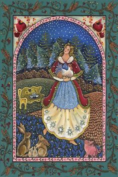 Winter maiden Large Print by Dee Sprague by mermaidmessenger, $29.00
