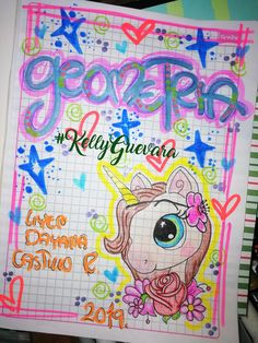 #KellyGuevara Notebook Art, Page Borders Design, Border Design, School Notebooks, Card Drawing, Cover Pages, Diy And Crafts, Pikachu, Clip Art