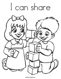 I can share Coloring Page - Twisty Noodle