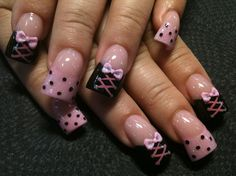 corsets and polka dots by Oli123 - Nail Art Gallery nailartgallery.nailsmag.com by Nails Magazine www.nailsmag.com #nailart