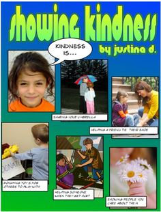 template to make kindness comic strips...you have to download comic life program from plasq though