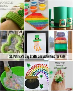 St. Patrick's Day Crafts and Activities for Kids| Great collection of green and rainbow activities.