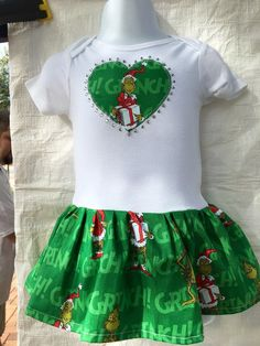 How the Grinch Stole Christmas Infant Dress by quiltsbykym on Etsy